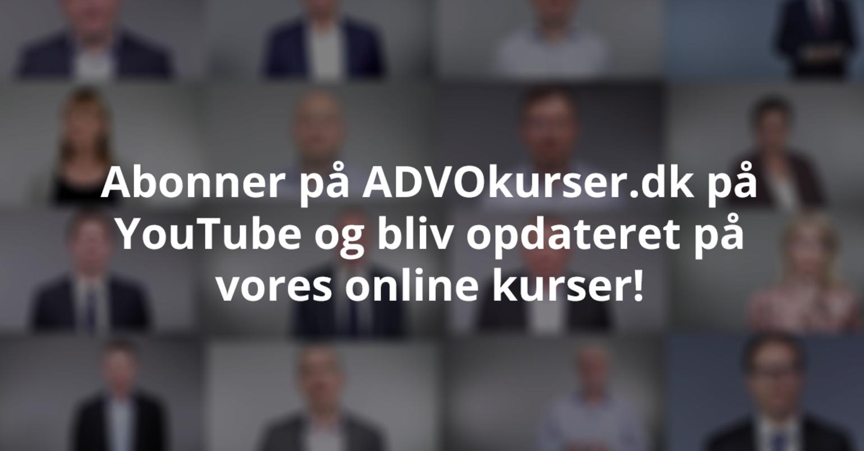 ADVOkurser.dk er nu på YouTube!